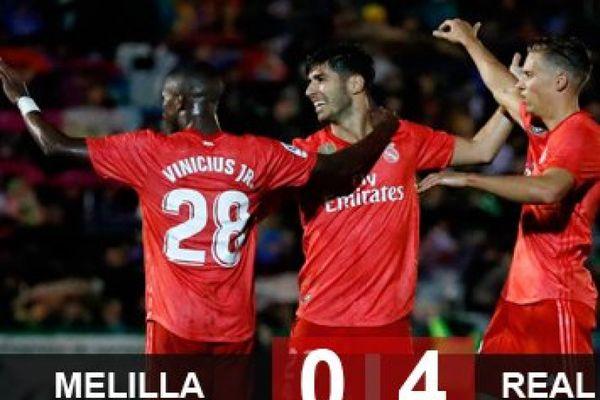 Melilla 0-4 Real Madrid: Solari và Vinicius ra mắt ấn tượng