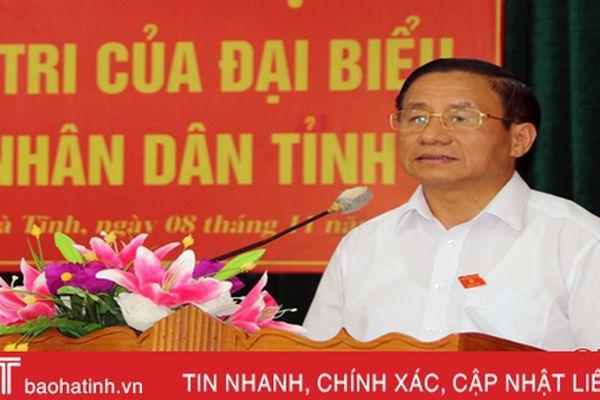 Cử tri TP Hà Tĩnh quan tâm đến vấn đề quản lý đất đai