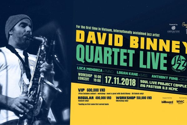 Nghệ sĩ saxophone nổi tiếng David Binney trình diễn tại Việt Nam
