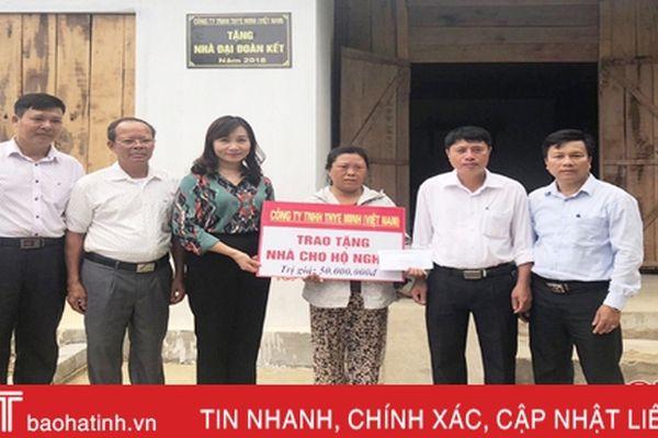 MTTQ Hà Tĩnh hỗ trợ xây dựng 2 nhà 'Đại đoàn kết' ở Hương Khê