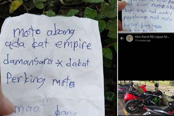 Trộm đồ nhưng cảm thấy áy náy, đạo tặc viết tâm thư chỉ nơi cất giấu