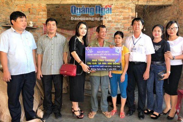 Hỗ trợ xây nhà tình thương cho các hộ nghèo ở xã Nghĩa Kỳ, Tư Nghĩa