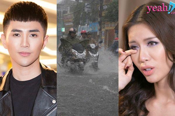 Muôn màu showbiz Việt ngày bão: Người lo lắng từ phương xa, kẻ mắc kẹt nhiều giờ đồng hồ vì không thể về nhà