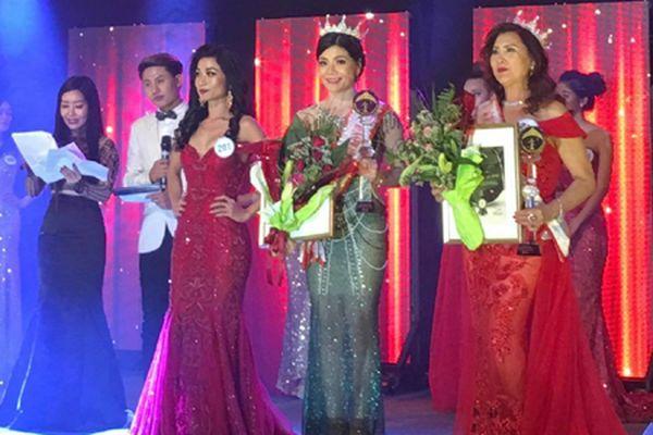 Doanh nhân Ninh Bình Vũ Thị Mai giành á hậu 3 cuộc thi Hoa hậu Doanh nhân người Việt Châu Âu 2018