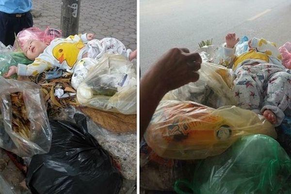 Hà Nội: Xót xa bé trai khoảng 5 tháng tuổi bị bỏ rơi trên thùng rác