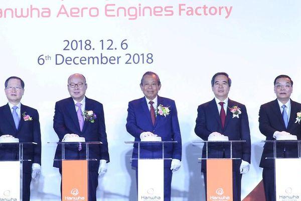 Khánh thành Nhà máy động cơ máy bay Hanwha Aero Engines