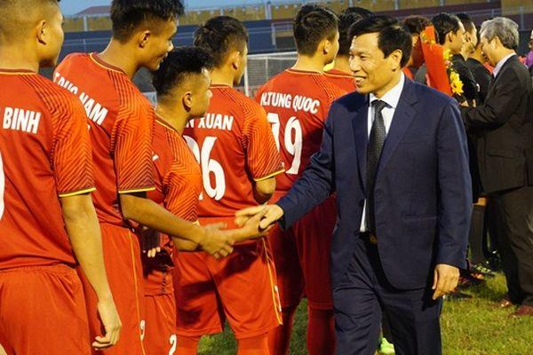 Bộ trưởng Nguyễn Ngọc Thiện dự khán trận chung kết U21 Việt Nam – Myanmar