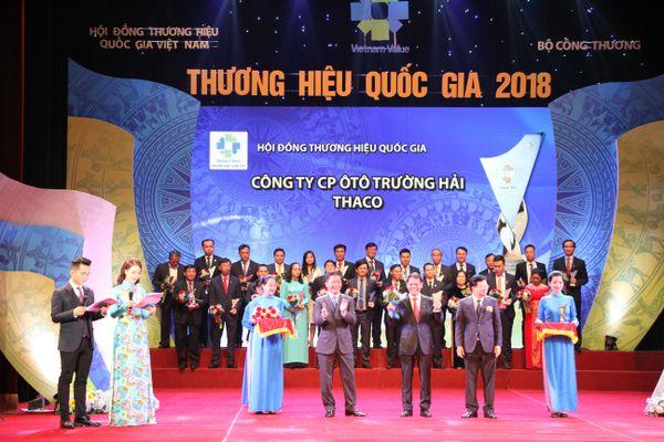 Thaco đạt Thương hiệu Quốc gia 4 kỳ liên tiếp