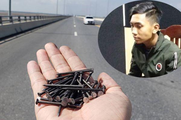 Kẻ rải đinh trên cầu vượt biển Tân Vũ - Lạch Huyện là thợ sửa xe