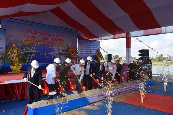 Quảng Trị: Khởi công xây dựng đập ngăn mặn sông Hiếu