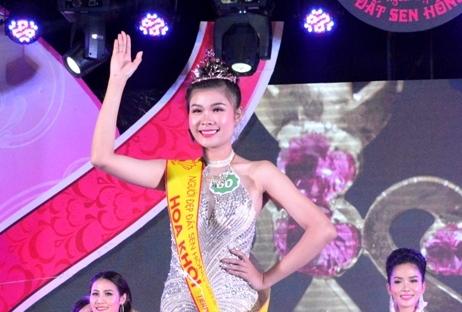 Trần Thị Tố Sương đăng quang Hoa khôi 'Người đẹp Đất Sen hồng 2018'