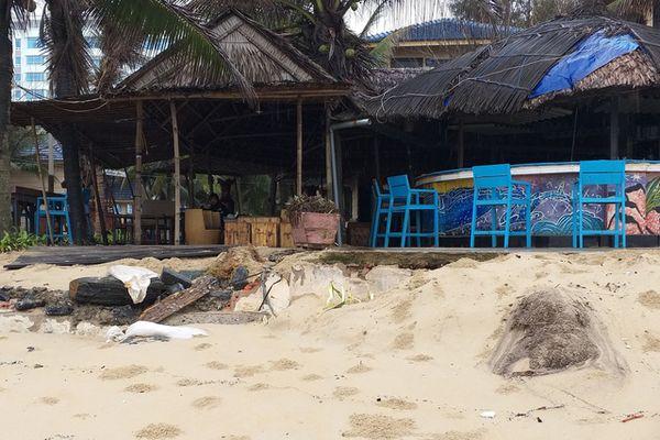 Bờ biển Đà Nẵng sạt lở nghiêm trọng