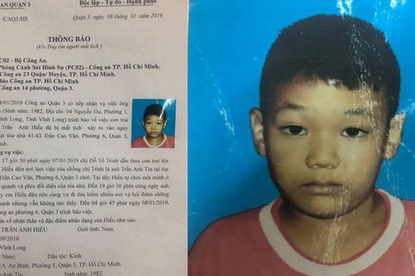 Thông tin mới nhất vụ bé trai 9 tuổi 'mất tích' khi tới chỗ bố làm việc ở Sài Gòn