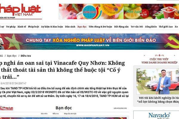 Phúc thẩm nguyên giám đốc Vinacafe Quy Nhơn: Bị cáo mong tòa xem xét vụ án khách quan, toàn diện