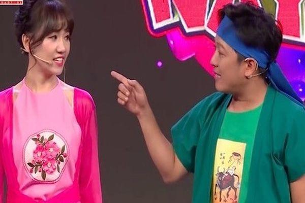 Trường Giang tiếp tục 'đá xéo' Hari Won trên sóng truyền hình