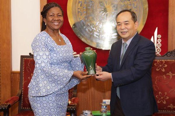 Thứ trưởng Lê Khánh Hải: Bộ VHTTDL sẵn sàng hợp tác, phát triển văn hóa, du lịch, thể thao với Gana