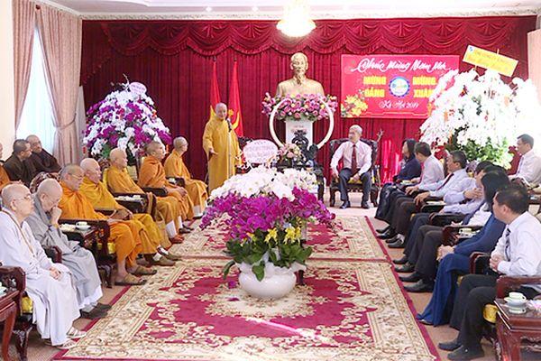 Các đoàn tôn giáo chúc tết Tỉnh ủy, HĐND, UBND, Ủy ban MTTQ tỉnh