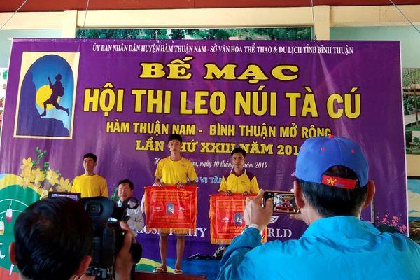 Đồng Nai giành giải nhất toàn đoàn Hội thi leo núi Tà Cú mở rộng 2019