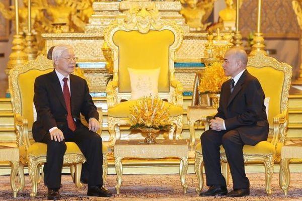 Tổng Bí thư, Chủ tịch nước Nguyễn Phú Trọng thăm cấp nhà nước Vương quốc Campuchia