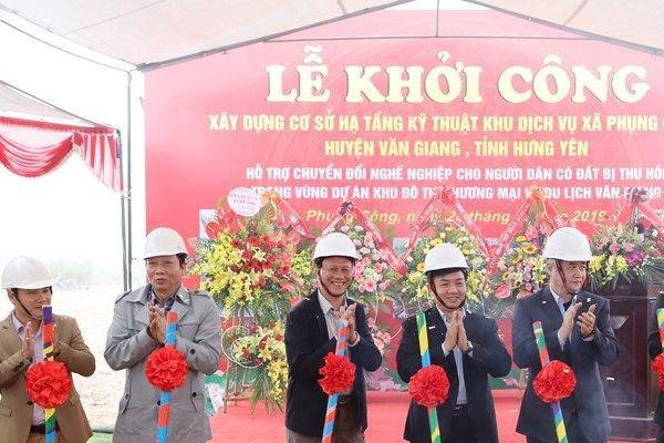 Dự án đất dịch vụ hỗ trợ chuyển đổi nghề cho người dân xã Phụng Công (Hưng Yên) đã được khởi công