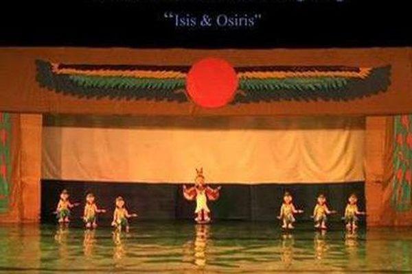Biểu diễn vở múa rối nước đầu tiên ở Trung Đông 'Isis & Osiris' tại Hà Nội