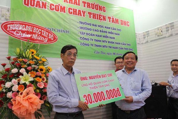 Trường Đại học Nam Cần Thơ khai trương quán cơm chay 5.000 đồng phục vụ người nghèo