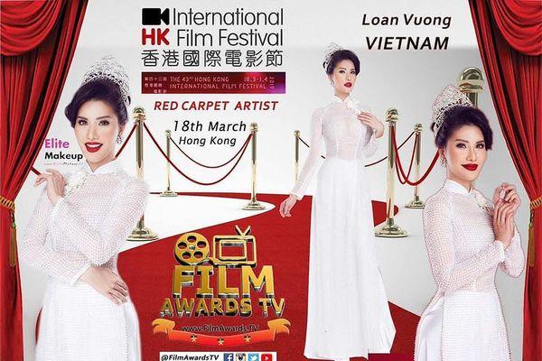Hoa hậu Loan Vương tham gia LHP Quốc tế Hong Kong