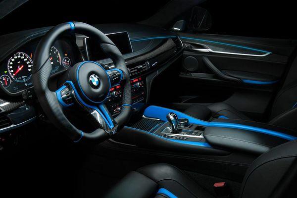 BMW X6 M bản độ với tông màu xanh đen cực độc