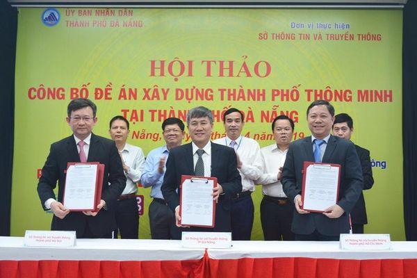 Hà Nội - TP Hồ Chí Minh - Đà Nẵng hợp tác phát triển thành phố thông minh