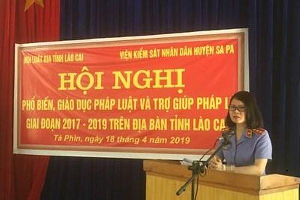 Viện KSND huyện Sa Pa đẩy mạnh công tác tuyên truyền pháp luật