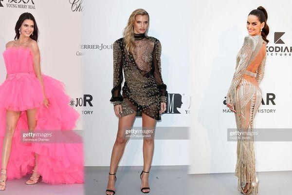 Loạt sao diện đồ xuyên thấu, mẫu 9x lộ ngực táo bạo nhất tại tiệc hậu Cannes