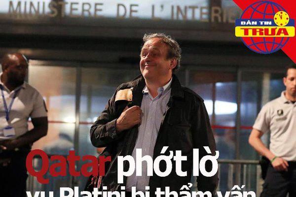 Qatar phớt lờ vụ Platini bị thẩm vấn; Barca mua lại Neymar