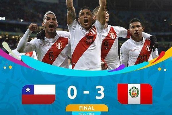 Thắng 'hủy diệt' ĐKVĐ Chile, Peru vào chung kết Copa America