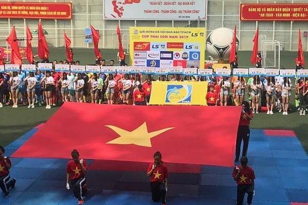 Báo Hải quan dự Giải bóng đá Hội Nhà báo TPHCM