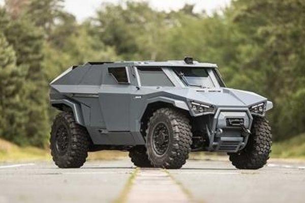 Volvo chế tạo xe quân sự có thể… đi ngang