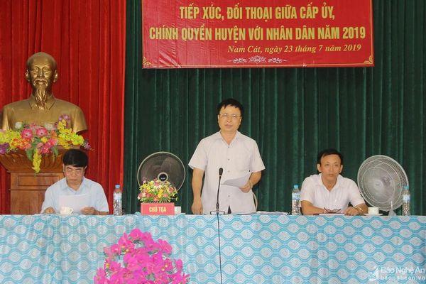 Huyện ủy Nam Đàn đối thoại tháo gỡ khó khăn xây dựng nông thôn mới kiểu mẫu
