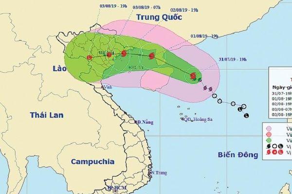 Bão số 3 hướng vào các tỉnh từ Quảng Ninh đến Nam Định