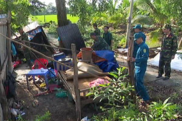 28 căn nhà của dân vùng Đồng Tháp Mười bị sập, tốc mái
