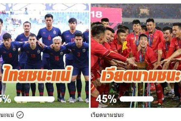 Nhiều CĐV Thái Lan không tin đội nhà có thể đánh bại tuyển Việt Nam