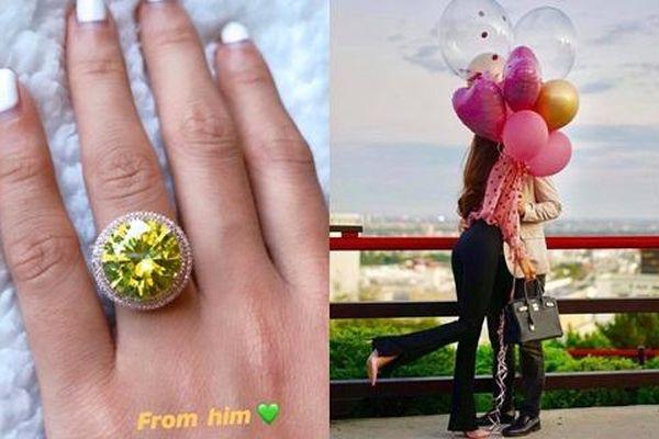 Phạm Hương khoe nhẫn kim cương rực rỡ cùng ảnh ôm hôn bạn trai nhân ngày sinh nhật