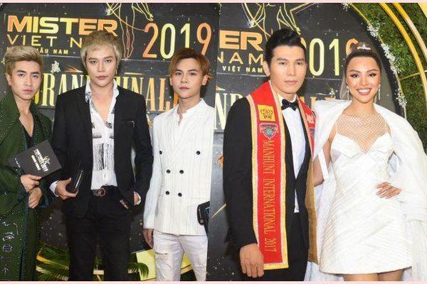 Chung kết Mister Vietnam 2019: DOMINIX 'đánh lẻ', Ngọc Tình 'hộ tống' Khả Trang chiếm spotlight thảm đỏ