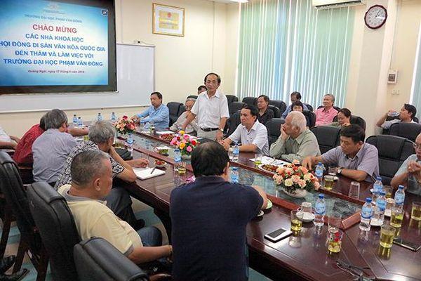 Hoạt động của Hội đồng Di sản Văn hóa Quốc gia tại Quảng Ngãi