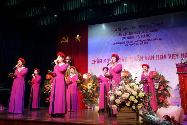 CLB dân ca Ví, Giặm xứ Nghệ tại Hà Nội mừng ngày Di sản Văn hóa Việt Nam