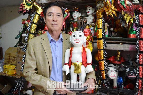 Nam Định: Độc đáo nghệ thuật tạo hình con rối nước