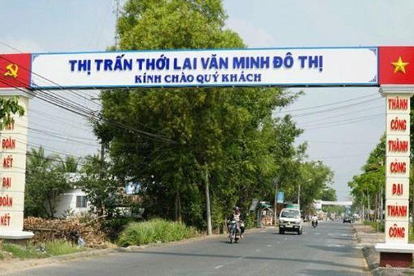 Thị trấn Thới Lai đạt chuẩn văn minh đô thị