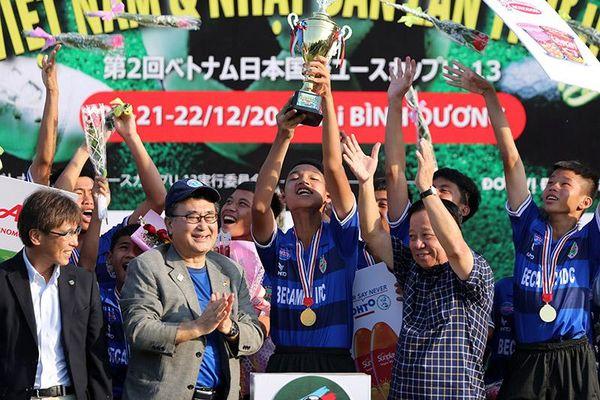 Becamex Bình Dương vô địch Giải bóng đá quốc tế U13 Việt Nam - Nhật Bản lần 2