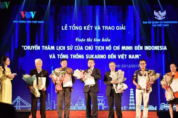 Trao giải Cuộc thi tìm hiểu về quan hệ hai nước Việt Nam và Indonesia