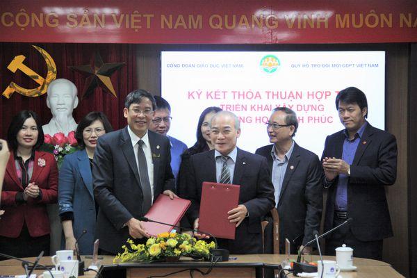 Công đoàn GD Việt Nam, Quỹ VIGEF hợp tác triển khai xây dựng Trường học hạnh phúc