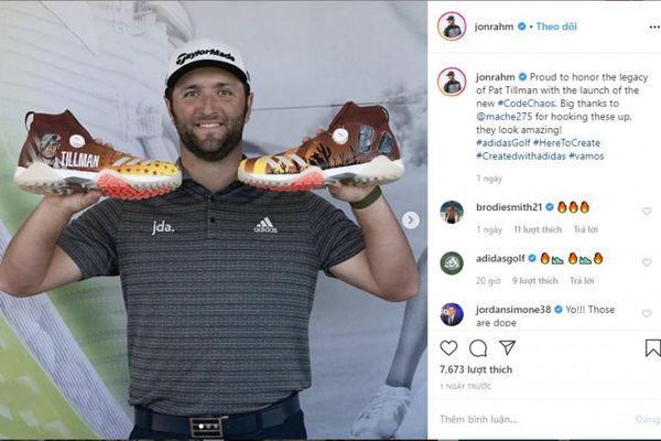 Golfer Jon Rahm trình làng đôi giày vinh danh Pat Tillman tại WMPO