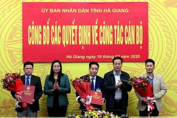Tin nhân sự, lãnh đạo mới tại Hà Giang và Bình Phước